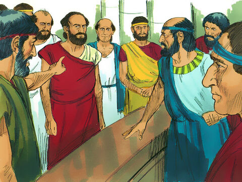 'Paul and Silas have caused trouble everywhere,' they shouted, 'Jason has welcomed them into his home. They are all guilty of treason against Caesar, for they profess allegiance to another king, named Jesus.' – Slide 6