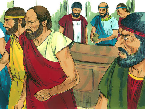 The city council, were thrown into turmoil by these reports. So the officials forced Jason and the other believers to hand over money as a guarantee they would banish Paul from the city. Then they released them. – Slide 7