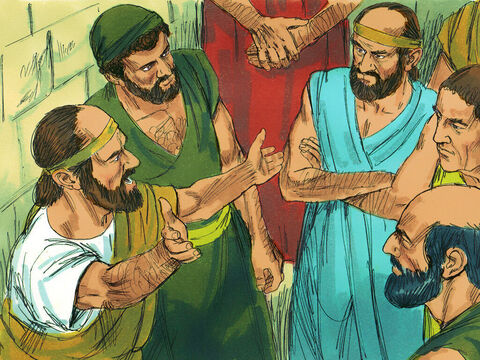 However, when some Jews in Thessalonica learned that Paul was preaching in Berea, they arrived to stir up trouble. – Slide 10