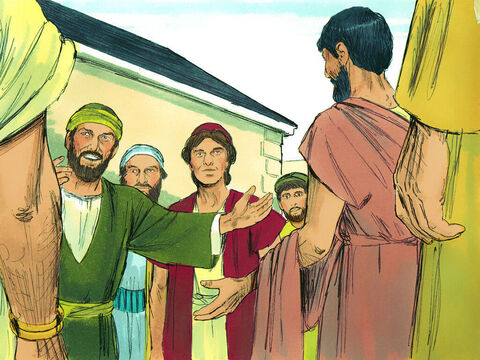 Several men were traveling with Paul. They were Sopater from Berea; Aristarchus and Secundus from Thessalonica; Gaius from Derbe; Timothy, Tychicus and Trophimus from Asia. They went on ahead and waited for Paul at Troas. – Slide 7