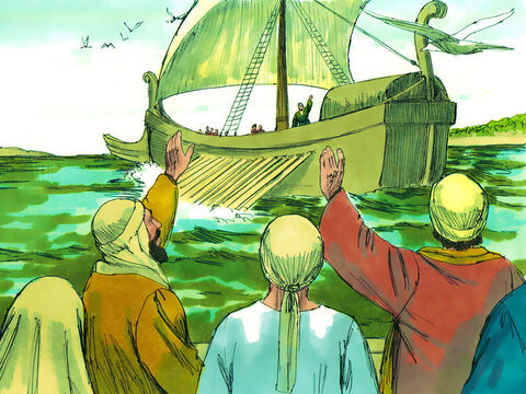 After the Passover ended, Paul boarded a ship at Philippi heading for Troas. – Slide 8