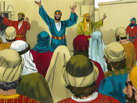 Other Jews from many countries, who had come to Jerusalem for the Feast heard the commotion and were amazed to hear them declaring the wonders of God in their languages. – Slide 3
