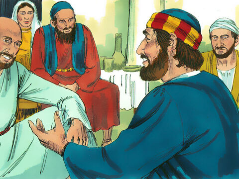 He met with the Christians in Lydda to encourage them. – Slide 3