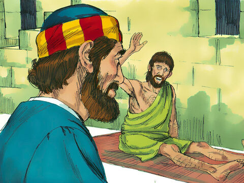 Peter met a paralysed man called Aeneas who had been unable to get up from his bed mat for 8 years. – Slide 4