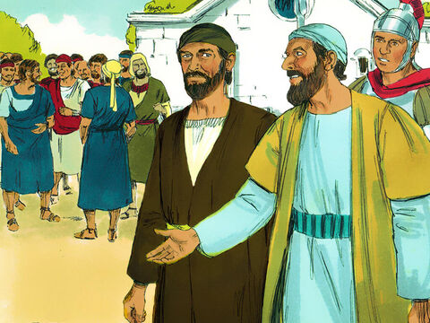 Cornelius immediately sent two of his servants and a devout soldier, who was one of his attendants, to Joppa. – Slide 5
