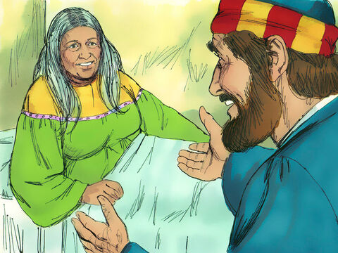 Tabitha opened her eyes and sat up. Peter took her by the hand and helped her to her feet. – Slide 10