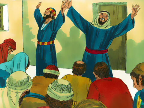 Peter and John returned to the believers and reported what the chief priests and elders had told them. The believers responded by raising their voices in prayer, telling God about the threats that had been made against them. – Slide 13