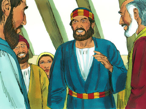 When they opened the door and saw Peter they were astonished. Peter motioned them to be quiet and described how the Lord had brought him out of prison. 'Tell Jamesand the other brothers and sistersabout this,' he said. Then he left to find a safe hiding place. – Slide 10