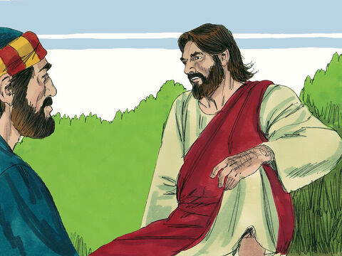When they had finished eating, Jesus said to Simon Peter, 'Simon son of John, do you love me more than these?' – Slide 9