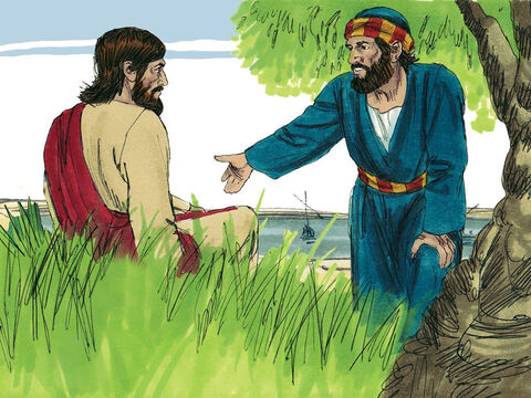 'Yes, Lord,' he said, 'you know that I love you.' Jesus replied, 'Feed my lambs.' – Slide 10