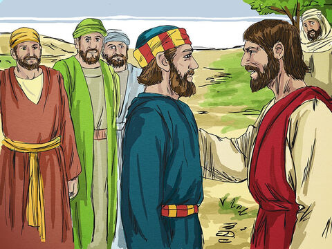 Jesus then told Simon Peter how he would die to glorify God. 'When you were younger you dressed yourself and went where you wanted. But, when you are old, you will stretch out your hands, and someone else will dress you and lead you where you do not want to go.' – Slide 15