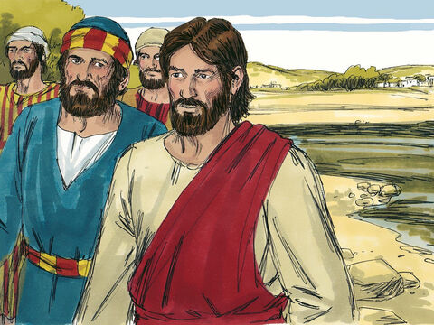 Peter saw that John was following behind them. 'Lord, what about him?' he asked. <br/>'If I want him to remain alive until I return, what is that to you? Jesus answered. You must follow me.' – Slide 16