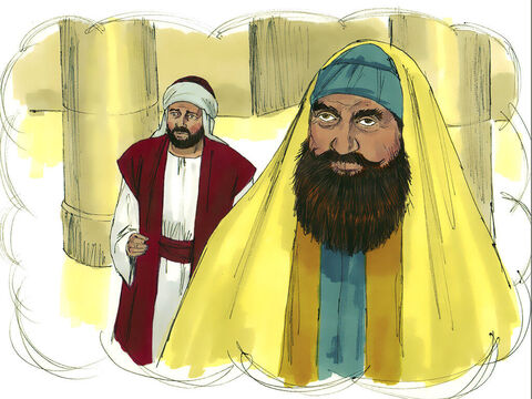 'Two men went to the Temple to pray. One was a Pharisee, and the other was a despised tax collector. – Slide 2