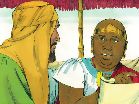 'Please tell me who the prophet is talking about,' the Ethiopian said, 'himself or someone else?' – Slide 7