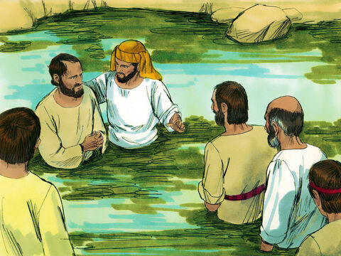 Many of the Samaritans believed in Jesus and were baptized. – Slide 5