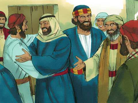News of what was happening in Samaria soon reached the apostles in Jerusalem. Peter and John travelled to Samaria to find out what was happening. – Slide 7