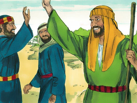 After telling others about Jesus in Samaria, Peter and John returned to Jerusalem peaching in Samaritan villages along the way. – Slide 11