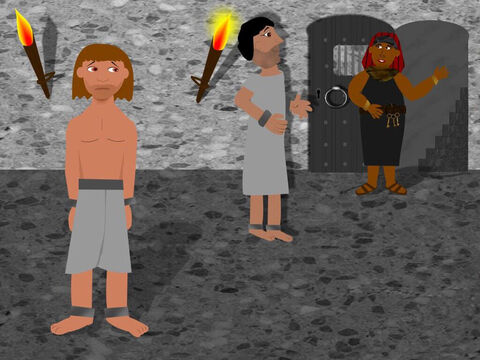 Three days later the baker was executed and the butler was set free. Joseph asked the butler to remember him to Pharaoh as he was innocent and should not be in prison. Sadly the butler forgot all about Joseph as soon as he got back to the palace. – Slide 7