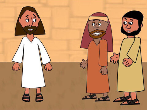 It was almost time for the Passover celebration. Jesus told Peter and John to go into the city where they would see a man carrying a water jar. They should follow him home and say, 'The teacher needs your room for the Passover meal.' Then Jesus told them the man would show them a large upper room they could use. – Slide 1