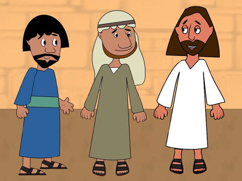 One day as Jesus was coming towards Jerusalem He told two of His disciples to go to a nearby village. 'You will find a donkey there,' said Jesus. 'Untie it and bring it to me. If anyone asks what you are doing you must say the Lord needs it.' – Slide 1