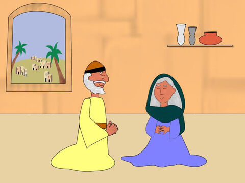 Zacharias (also called Zachariah) was a priest in the temple and he lived with his wife Elizabeth. They loved God very much and always tried to do what was right. They did not have any children and because they were now old they did not think they could have a family. – Slide 1