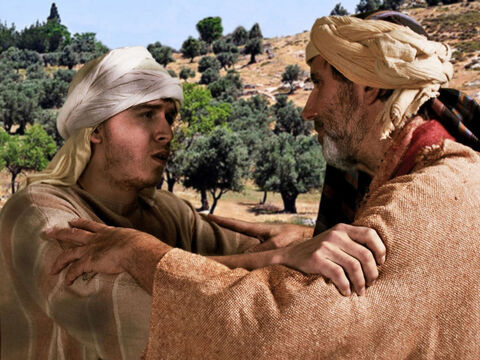 Luke 15 v 21 The son confesses he has sinned against God and his father. He is no longer worthy to be called his son. – Slide 23