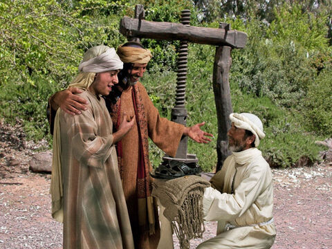 Luke 15 v 22 His father tells the servants to bring his son the best robe, sandals and a ring for his finger. – Slide 24
