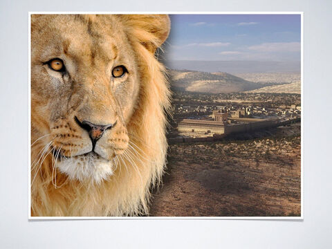Prophecy as early as 1400 BC: He will be (the lion) from the tribe of Judah (Genesis 49:8-10, Micah 5:2). <br/> Fulfillment: Matthew 1:1-3, Hebrews 7:14, Revelation 5:5 – Slide 5