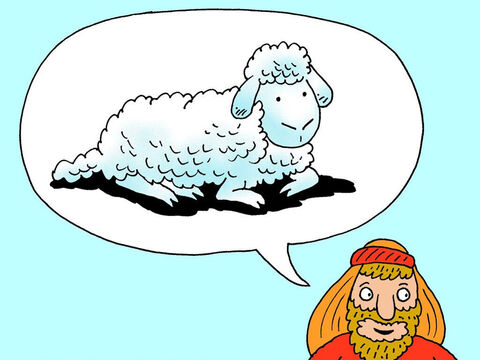 Abraham answered, 'God will provide the lamb for the burnt offering.' The two of them went on together. – Slide 11