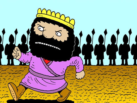 And sure enough, the following spring, Ben-Hadad had gathered another army and was marching to fight King Ahab. The King of Syria had new battle tactics. He knew the Israelites were good at fighting in the hills so he wanted to battle with them on the plains. – Slide 9