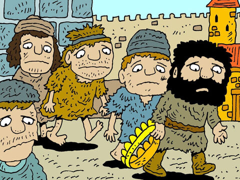 """Wearing sackcloth around their waists and ropes around their heads, they went to the king Ahab and said, 'Your servant Ben-Hadad says: """"Please let me live.""""' – Slide 13"""