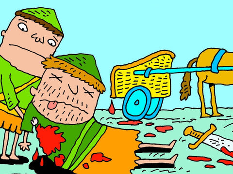Eventually Ahab died. His chariot was brought back to the city to be washed clean. Guess where it was washed? – Slide 5