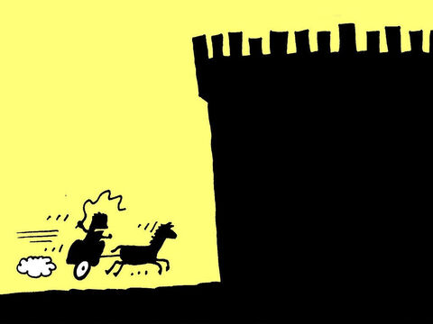 Now Jehu turned his attention to Queen Jezebel. He rode off to the to find her. – Slide 19
