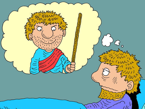 'Man?' repeated the king. 'What man?'<br/>'We don't know who he was,' the messengers confessed but described what he looked like. <br/>'Ah!' said the king. 'That's Elijah … I thought as much! I wish he wouldn't interfere!' – Slide 10