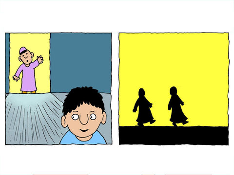 A servant rushed to find Daniel and bring him to the palace. – Slide 22