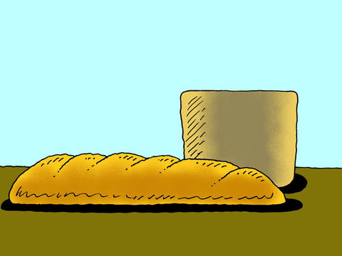 You may have noticed that in church sometimes people eat some bread and drink some red wine. Why are they doing this? They sometimes call it a communion service, or the Lord's Supper or the breaking of bread service. – Slide 1
