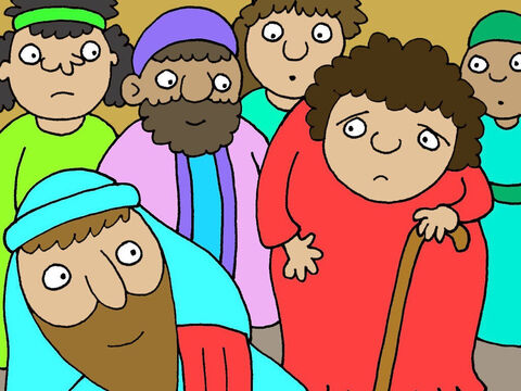 Jesus noticed the crippled lady who was completely bent over. – Slide 3