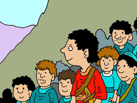 David and his men were hiding from King Saul. They took refuge in a place known as the wilderness of Paran. – Slide 1