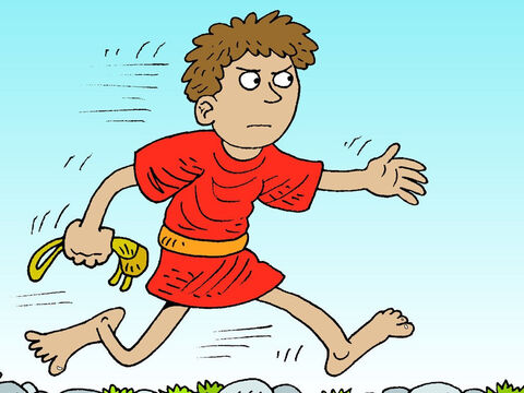 David then advanced toward Goliath, who sneered at the youngster coming towards him. – Slide 18