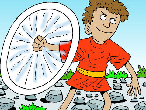 That roused the Philistine who started toward David. David began to swirl his swing round and round, faster and faster .., – Slide 23