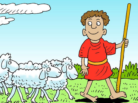 David was a good shepherd who led his sheep to find new pastures. – Slide 8