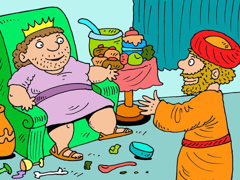 Ehud walked into the King's summer palace on his own. The king was in his own private room. 'Everyone leave the room,' the king commanded. The door was closed leaving just Ehud and King Eglon to share the secret. – Slide 12