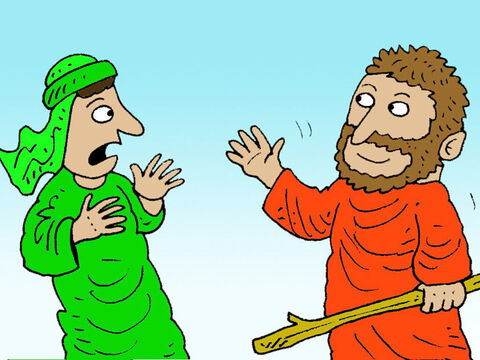 As Obadiah was searching he suddenly saw Elijah. – Slide 8