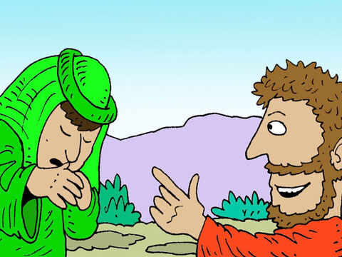 Obadiah bowed down to the ground before Elijah. 'Elijah? Is it really you, master?' he asked. <br/>'Yes,' Elijah replied. 'Go tell King Ahab that I am here.' – Slide 9