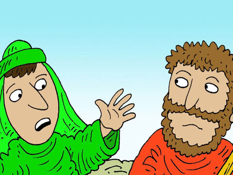 Obadiah was afraid. 'If I tell King Ahab you are here, but when he arrives you have gone, he will kill me. – Slide 10