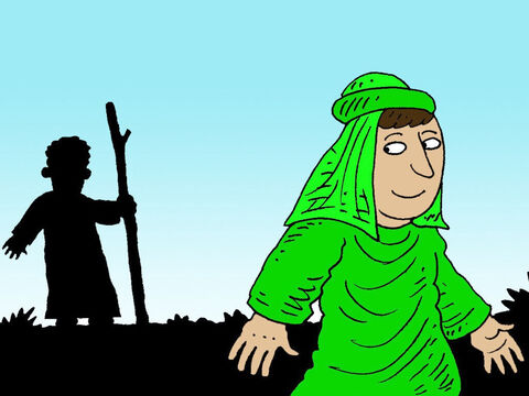 So Obadiah went to Ahab and told him where Elijah was. Then Ahab went to meet Elijah. – Slide 13