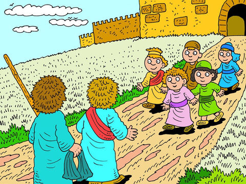 When they got to Jericho, another crowd of young prophets came to meet them, and they told Elisha the same thing - that Elijah was going to be taken away that very day. 'I know,' said Elisha, 'Please don't talk about it.' – Slide 5