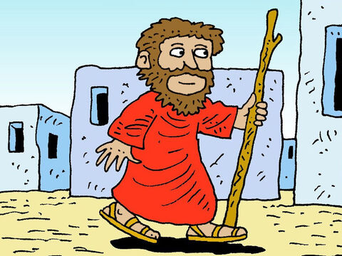 One day God told Elijah to go to Samaria with a message for wicked King Ahab who ruled the land. – Slide 2