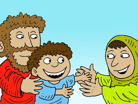 Elijah carried the boy downstairs. He gave the boy to his mother – Slide 16