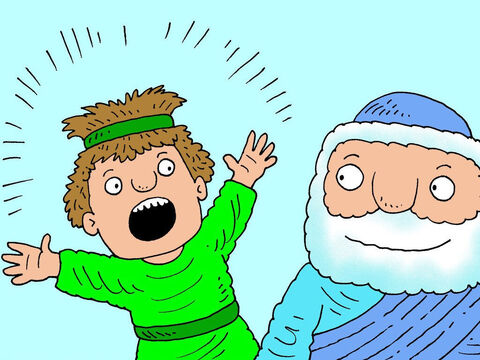 The servant rushed to find Elisha. 'Help! We are surrounded by enemy soldiers. We are going to die!' – Slide 14